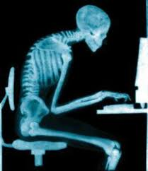 skeleton typing on a computer